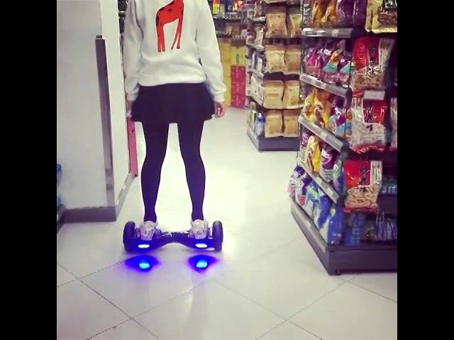 Shopping in the supermarket with two wheel self balance electric scooter Smart S1