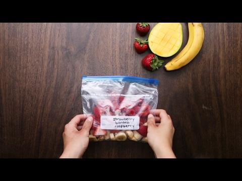 【スムージー ダイエット動画】冷凍フルーツで簡単!ビタミンたっぷりスムージー4選🍓🍌🍎🍍  – Längd: 1:34.