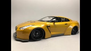 Aoshima: Nissan R35 GT-R LB Works Ver.1 Full Build Step By Step