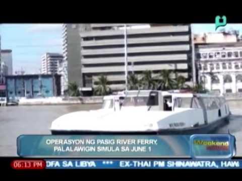 [The Weekend News] Operasyon ng Pasig river ferry palalawigin simula sa June 1 [05|24|14]