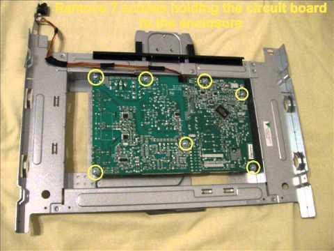 How to repair the monitor HP vs19e