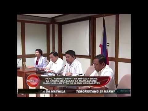 Pang. Aquino, dapat ma-impeach dahil sa naging bakbakan sa Mamasapano, Maguindanao