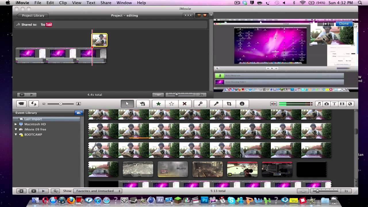 how to add pictures to imovie trailer