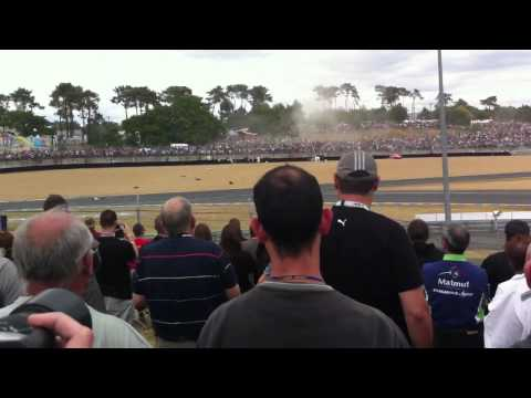 Le Mans 2011 Alan McNish Audi R18 Crash