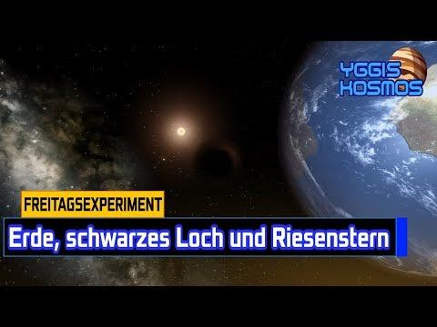 #Freitagsexperiment: Erde mit schwarzem Loch und Riesenstern!