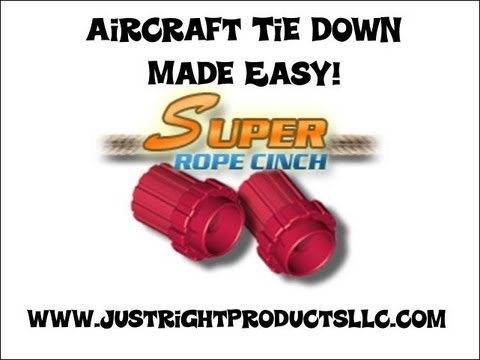 0 Aircraft tie downs, Super Rope Cinch aircraft tie down.