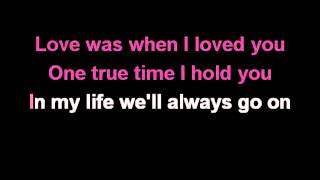 Céline Dion My Heart Will Go On Karaoke