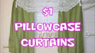 DIY How to: Make $1 PillowCase Curtains Dollar TRee