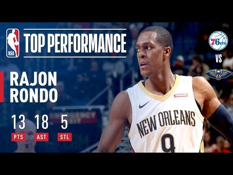 Rajon Rondo Dishes 18 Assists in Win vs. 76ers | December 10, 2017