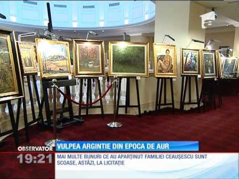 Obiecte de colecţie ale familiei Ceauşescu, scoase la licitaţie