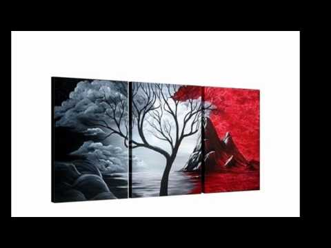 Novedosos cuadros modernos. Tripticos