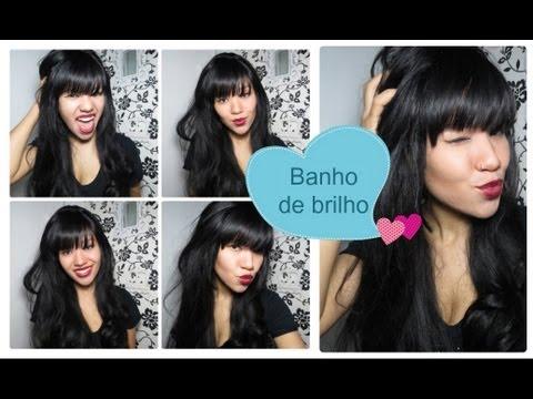 Como eu faço: Banho de brilho nos cabelos!!!