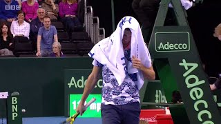 James Ward walks to wrong end of court, retires in dead rubber