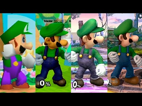 Evolution of Luigi Wii u Luigi Evolution