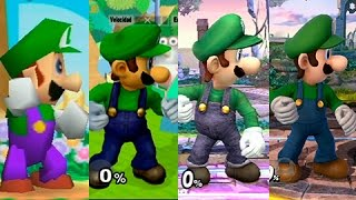 Super Smash Bros Wii U | Luigi Evolution