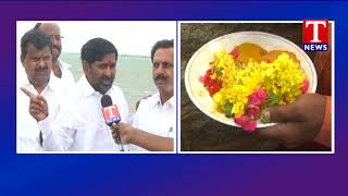 Minister Jagadish Reddy Face to Face | Releases Water From Dindi Project  live Telugu