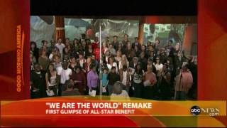 The Jonas Brothers And Others Recording We Are The World - 25 For Haiti