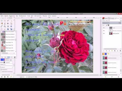 Текст в GIMP. Создаём поздравительную открытку