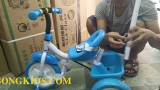 Xe đạp 3 bánh trẻ em 3368 (3333) - Bánh cao su