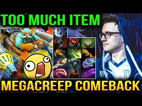Miracle- Rapier Mega Creep COMEBACK IS REAL Dota 2 7.07c