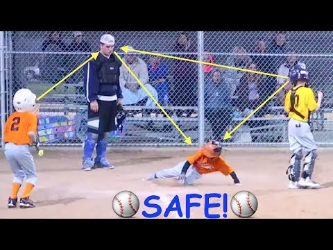 ⚾️Boy Steals Home and Scores at Baseball Game!⚾️