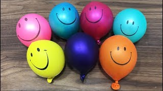 Making Slime With Happy Balloons !!! BoomSlime