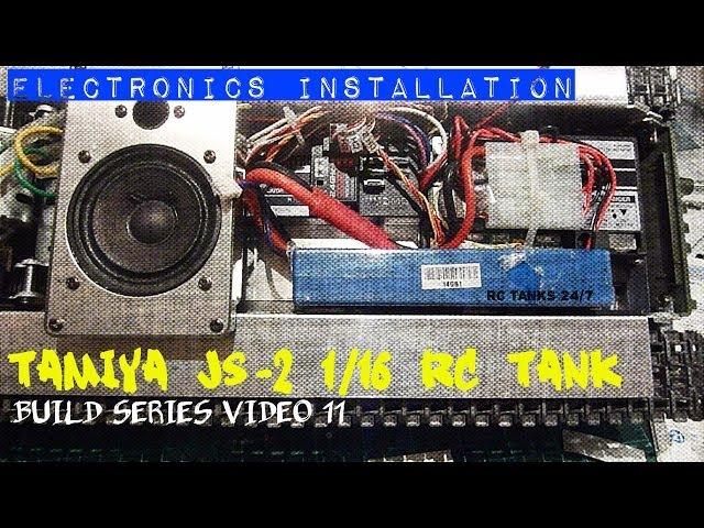 Tamiya JS-2 1/16 RC Tank Build Series Video 11