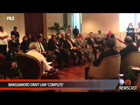 Bangsamoro draft law 'complete'