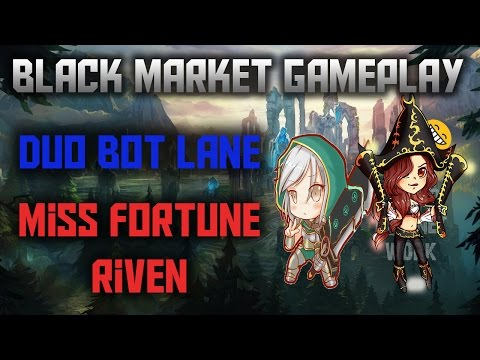 Reworked Miss Fortune And Riven ~ League of Legends ~ Black Market Brawlers Gameplay