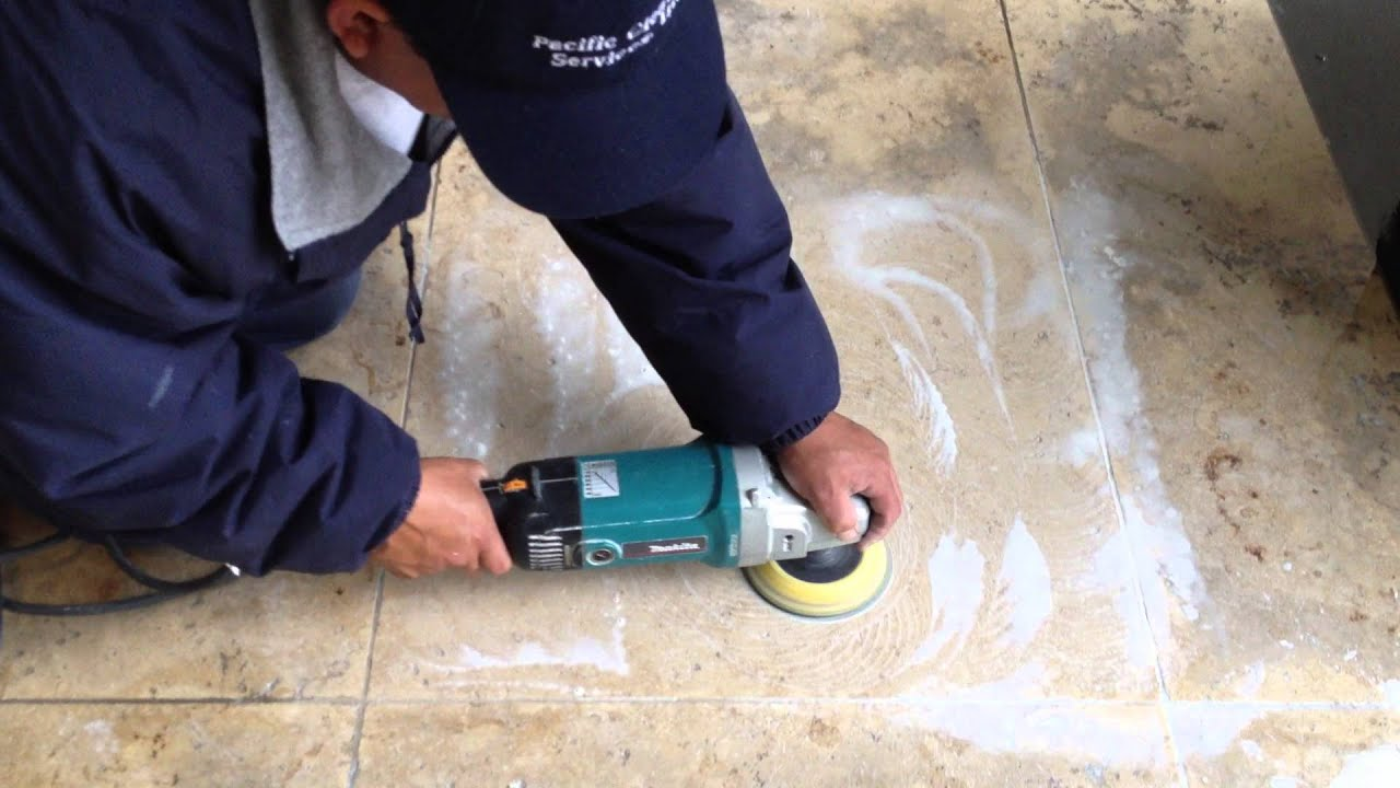 Buffing tile floors