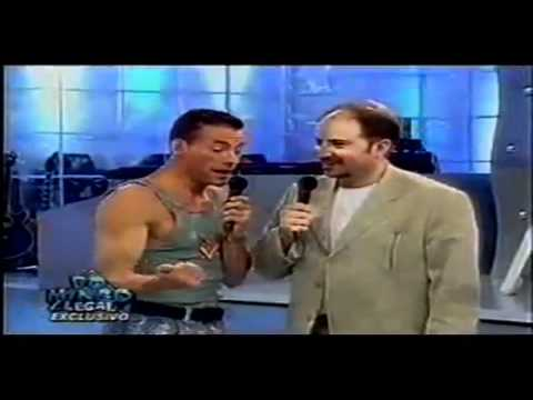VAN DAMME - Imitates Stallone, Seagal, Arnold and Him self + Karate Demonstration