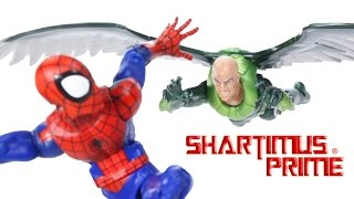 Marvel Legends Ultimate Spider-Man and Vulture Walmart Exclusive 2-Pack Comic Figure Toy Review-