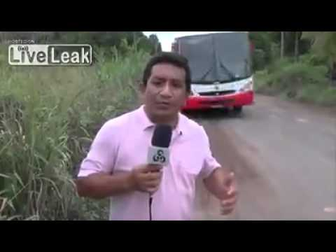 Journalist shows how dangerous this road is