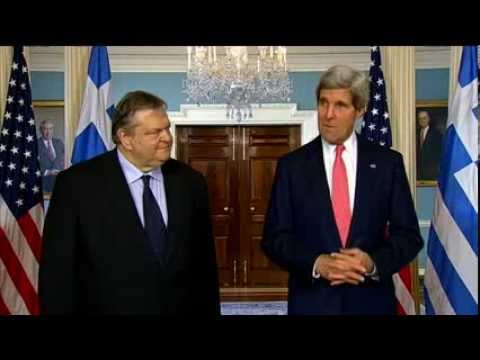 Secretary Kerry Delivers Remarks With Greek Foreign Minister Venizelos