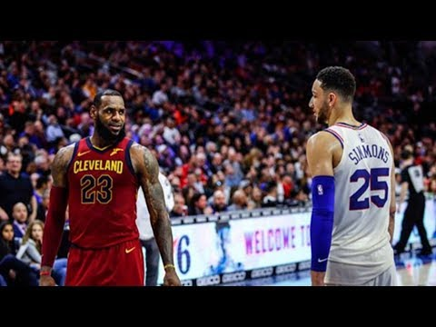 LeBron James Gets Schooled By Ben Simmons and Gives Him Respect! Cavaliers vs Sixers