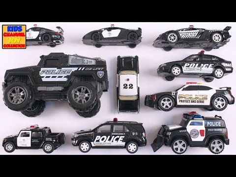 Emergency Police Cars for Children | Police Toys for Kids | Learning Police Vehicles