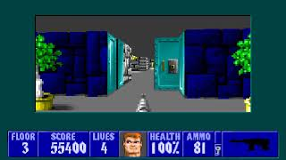 [MS-DOS] Wolfenstein 3D - Floor 3 (Episode III)