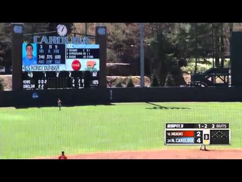 UNC Baseball: Highlights vs. Miami - Game 3