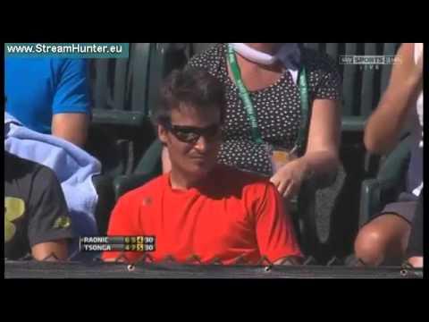 Jo-Wilfried Tsonga vs Milos Raonic - 4R - ATP Indian Wells 2013