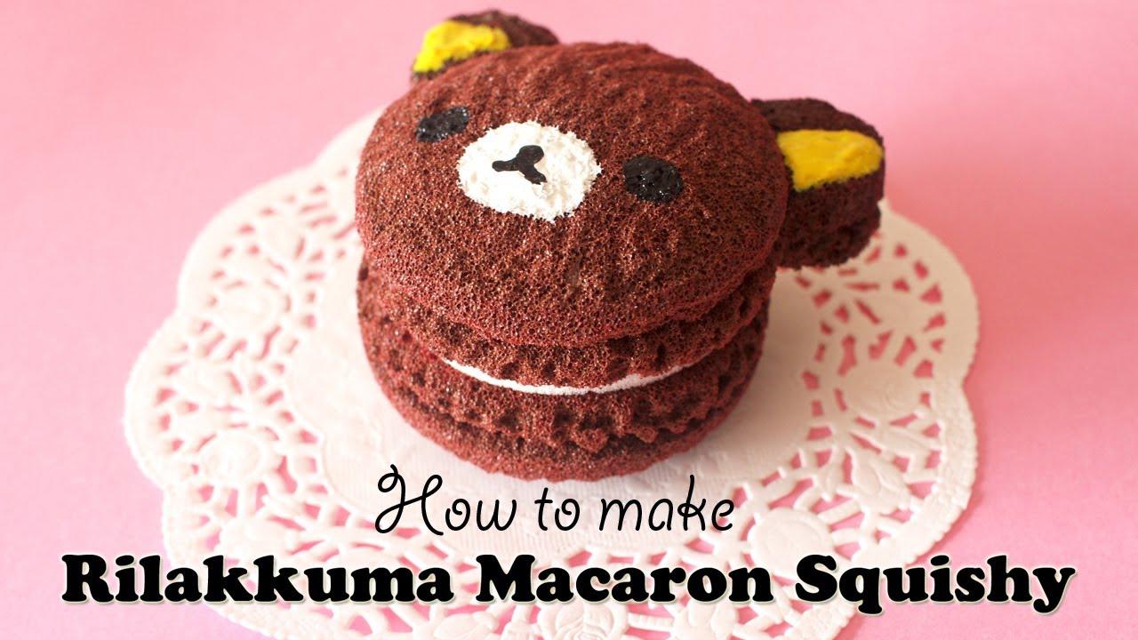 DIY Homeamde Rilakkuma Macaron Squishy Tutorial - How To - YouTube