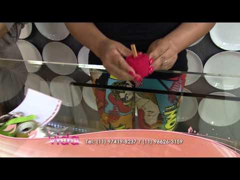 Dobradura em toalha com formato de maçã!