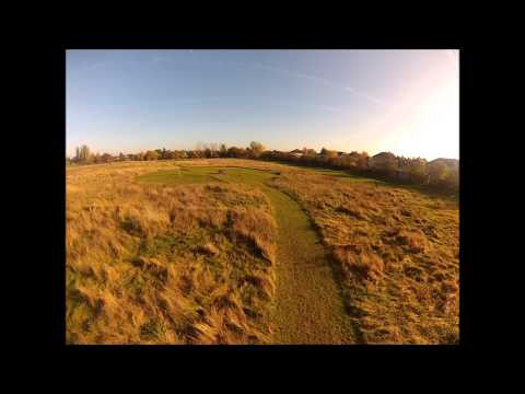 Testing Gopro Hero3 video quality, A FPV test in bright sun light and low sun light