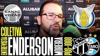[Série A '19] Coletiva Enderson Moreira | Pós-jogo Ceará SC 2 X 1 Grêmio FBPA | Canal do Vozão
