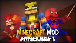 Minecraft Mod:Super Heróis da Marvel e DC com Seus Poderes (Homem Aranha,Wolverine) Super Heroes Mod