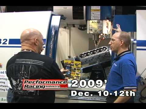 5 Axis CNC Cylinder Head Porting and 4 Axis CNC Block Machines at PRI Dec 09