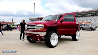 WhipAddict: Major Sound System, Lifted, Kandy Red Chevrolet Tahoe on Fuel Forged 26x16s
