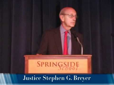 Supreme Court Justice Stephen Breyer Talks to Springside School & Chestnut Hill Academy, Part III
