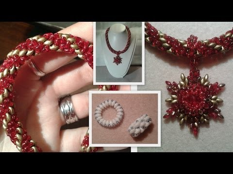 Super Duo Spiral and a Toggle Clasp Beading Tutorial by HoneyBeads