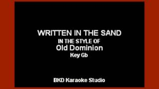 Download Lagu Old Dominion - Written In The Sand (Karaoke Version) Gratis STAFABAND