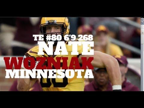 "Nate Wozniak | 6'9 | 268 | TE  | Minnesota  | NFL Draft 2018 | #80 | ""MegaBeast"""